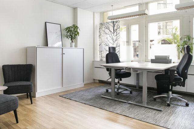 Kontorsrum med plats för 2-4 personer hos City Office kontorshotell