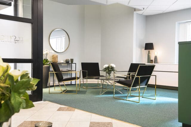 Receptionen hos City Office kontorshotell i Stockholm